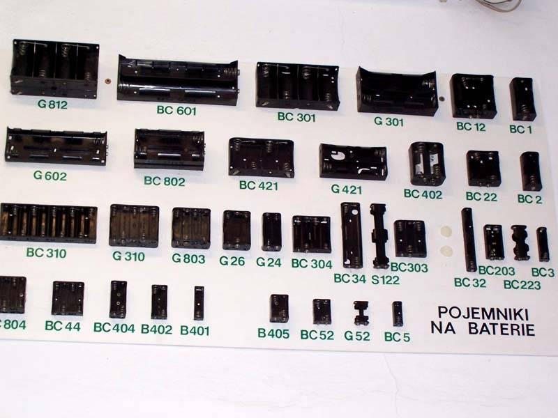 Pojemniki na baterie
